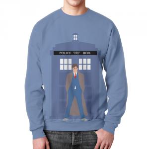 Merch Sweatshirt Doctor Who &Amp; Tardis Grphic Print