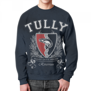 Merch Sweatshirt Game Of Thrones House Of Tully Print