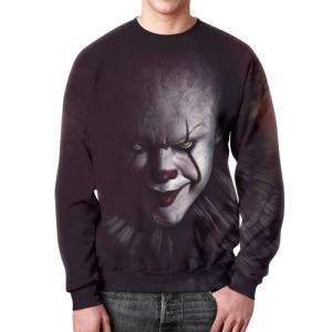 Merch Sweatshirt Stephen King It Black Face