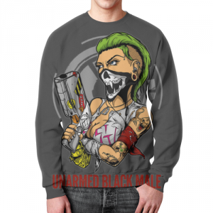Merchandise Sweatshirt Cyber Gothic Post-Punk Art