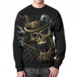 Merchandise Sweatshirt Skull Art Death Design Black