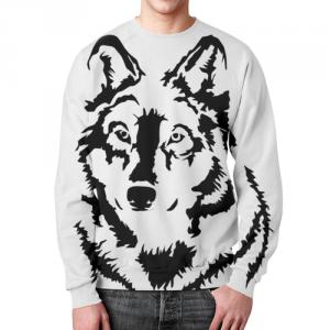 Merchandise Sweatshirt Tattoo Wolf Art Black White