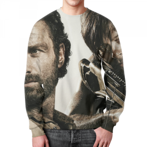 Collectibles Walking Dead Sweatshirt Scene Face Print