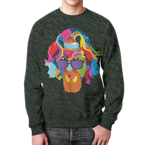 Collectibles Big Lebowski Sweatshirt Rainbow Black Print