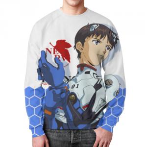Collectibles Evangelion Sweatshirt Shinji Ikari Blue