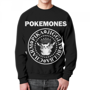 Merchandise - Sweatshirt Title Pokemones Emblem Black