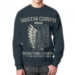 Merch Sweatshirt Attack On Titan Recon Corps Print