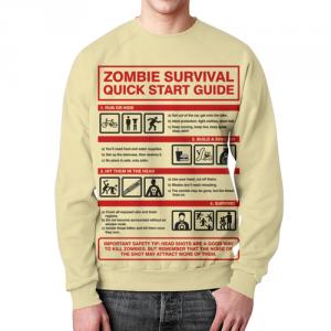 Merch Sweatshirt Zombie Apocalypse Survival Guide Print