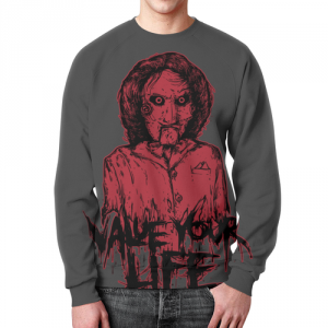 Merchandise Saw Sweatshirt Movie Portrait Hero Print