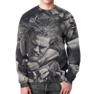 Merch Sweatshirt Sons Of Anarchy Character Print Black
