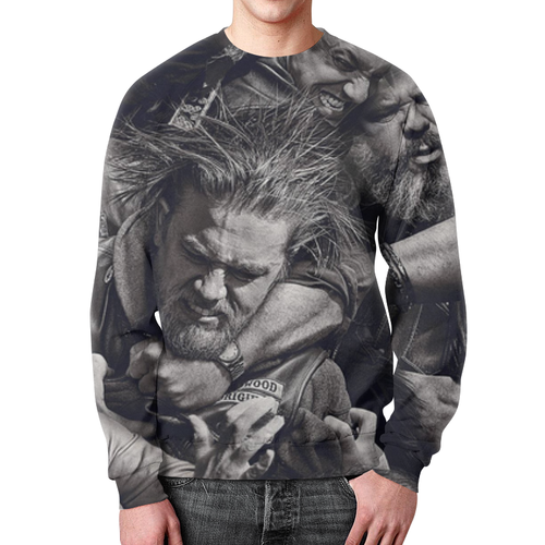 Merchandise Sweatshirt Sons Of Anarchy Character Print Black