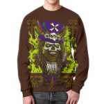 Merchandise Sweatshirt Skull Samdi Brown Design