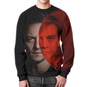 Merch Sweatshirt It Characters Print Black Design