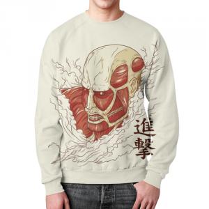 Collectibles Sweatshirt Attack On Titan White Design