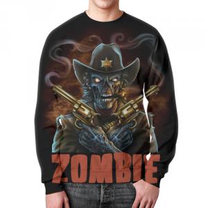 Merch Zombie Sheriff Sweatshirt Art Skeleton