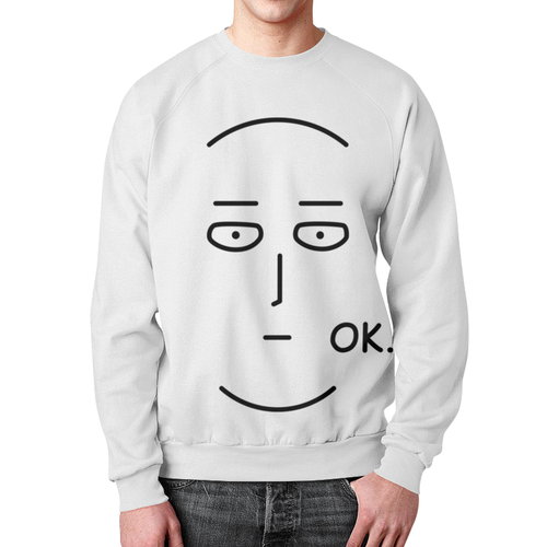 Merchandise One Punch Man Sweatshirt Ok Painted