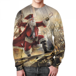 Collectibles Sweatshirt New Year Santa Pirate