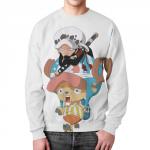 Merch Chopper &Amp; Trafalgar Sweatshirt One Piece Art