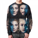 Merch Sweatshirt Characters Portraits Game Of Thrones Print