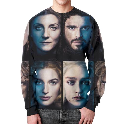 Merchandise Sweatshirt Characters Portraits Game Of Thrones Print