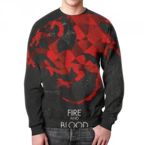 Merch Sweatshirt Game Of Thrones Dragon Emblem Print
