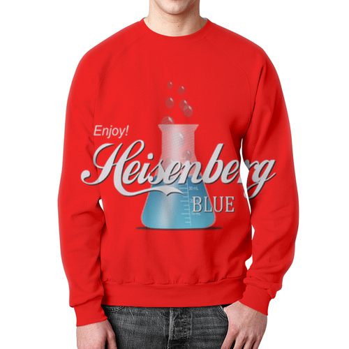 Merch Heisenberg Sweatshirt Breaking Bad Text Red