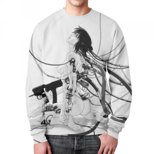 Merch Sweatshirt Ghost In The Shell Graphic Print