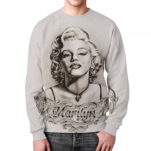 Merchandise Marilyn Monroe Sweatshirt Paint Portrait