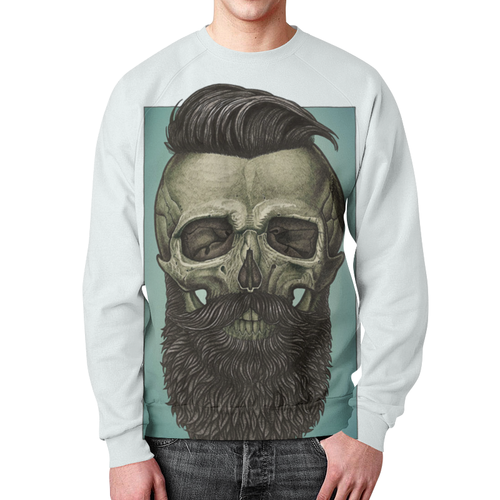 Collectibles Sweatshirt Skull Art Portrait White Design