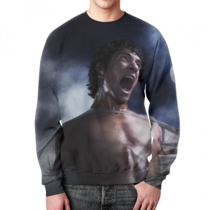 Collectibles Sweatshirt Teen Wolf Scene Design Print