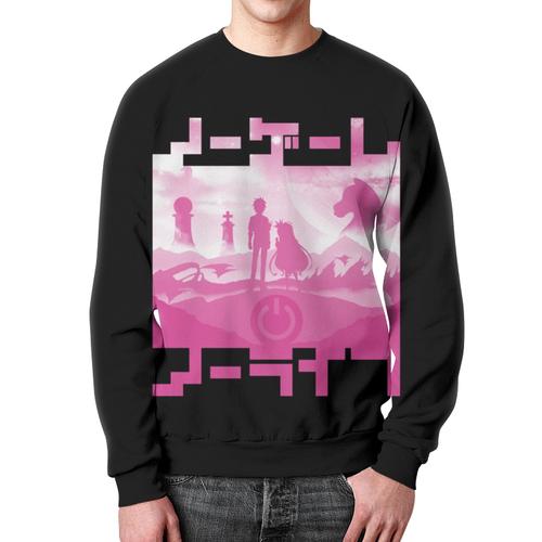 Merchandise No Game No Life Pink Sweatshirt Black