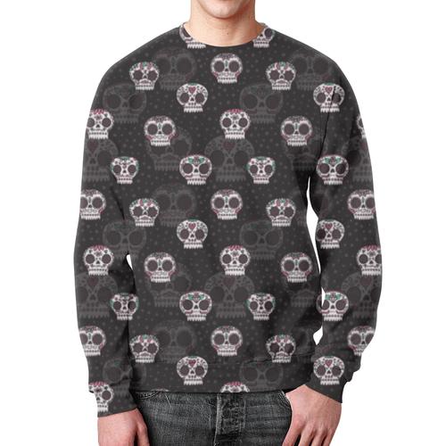 Collectibles Sweatshirt Skulls Pattern Design Black