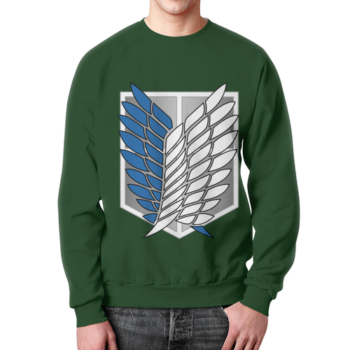 Merch Sweatshirt Attack On Titan Green Emblem