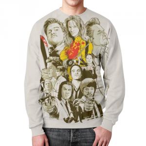 Merch Sweatshirt Tarantino'S Heroes Design Print
