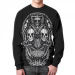 Merch Sweatshirt Skull Graphic Black Design