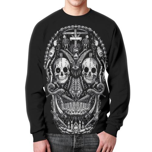 Collectibles Sweatshirt Skull Graphic Black Design