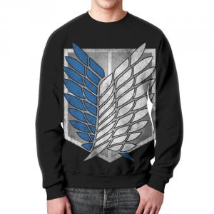 Collectibles Sweatshirt Attack On Titan Black Emblem