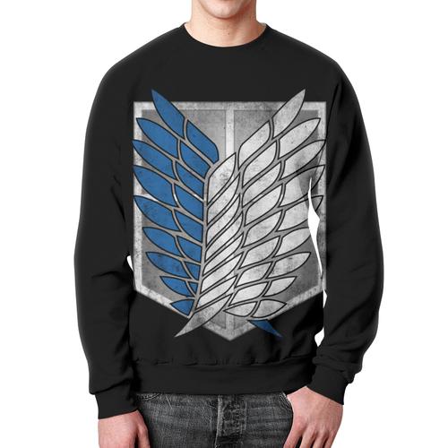 Merchandise Sweatshirt Attack On Titan Black Emblem