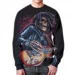 Merchandise Sweatshirt Death With A Guitar Black Print