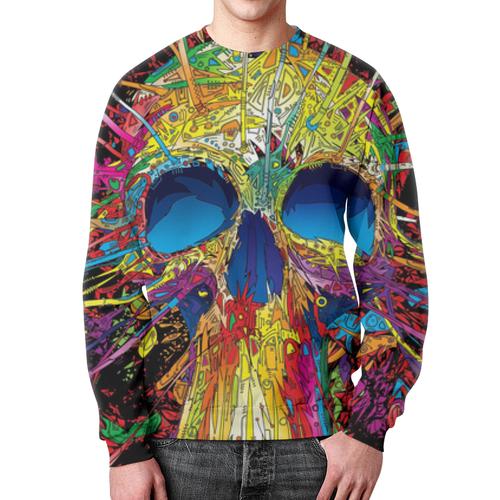 Merchandise Sweatshirt Skull Psychedelic Print Design