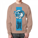 Collectibles Sweatshirt This Is Your Life Phrase Skull