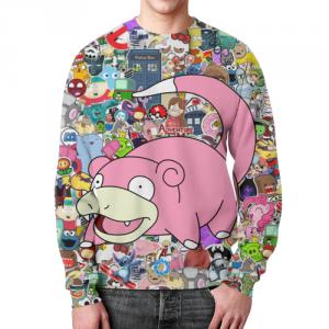 Merchandise - Sticker Bomb Sweatshirt Slowpoke Pokemon