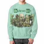 Merchandise Sweatshirt Breaking Bad Blue Print Characters