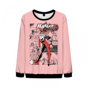 Merch Mens Harley Quinn Sweatshirt Pink Sweater