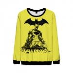 Merch Yellow Mens Sweatshirt Batman Sweater Arkham Logo