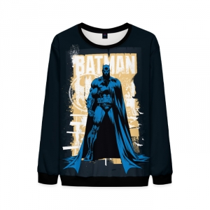 Merch Mens Sweatshirt Noir Batman Dark Black Sweater