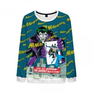 Merchandise Sweatshirt The Joker Back In Town Batman Retro