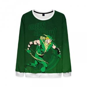 Merchandise Mens Green Arrow Sweatshirt Justice League