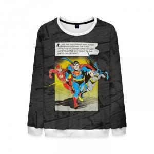 Merchandise Retro Sweatshirt Flash Batman Superman Justice League