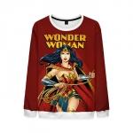 Collectibles Wonder Woman Sweatshirt Red Jumper Dark